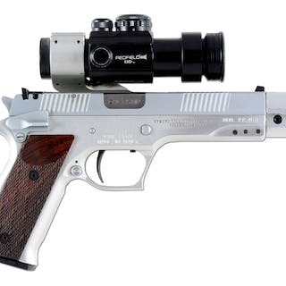 Manufactured in .45 HP to get around bans on the .45 ACP catridge