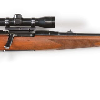 Dated on barrel 1956 and mounted with a Paul Jaeger Q/D...