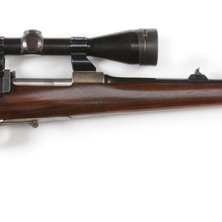 Classic guild produced Mauser Sporting rifle with spoon bolt handle
