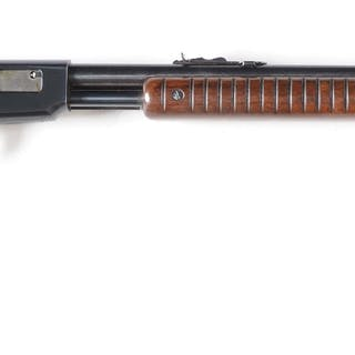 This is a standard rifle that features a round barrel