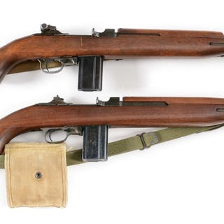 Lot consists of (A) IBM manufactured M1 carbine with...