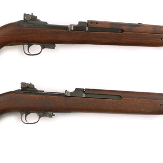 (A) Rock-Ola M1 carbine upgraded to type 3 with slide...