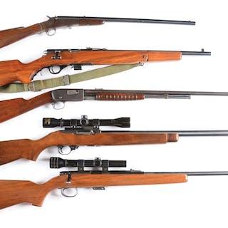 (A) Remington single shot .22 take-down Model 4