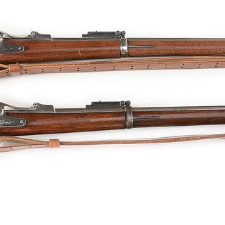 Traditional US Springfield 1884 Trapdoor rifles with...