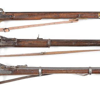 Lot consists of (A) Enfield Tower Pattern 1845 musket...