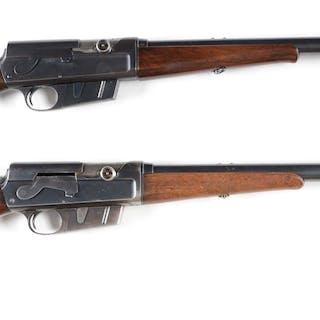 Lot consists of: (A) Remington Model 8 semi-automatic...