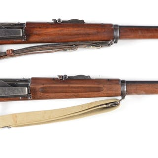 (A) Springfield 1898 Krag Rifle with strong 1900...