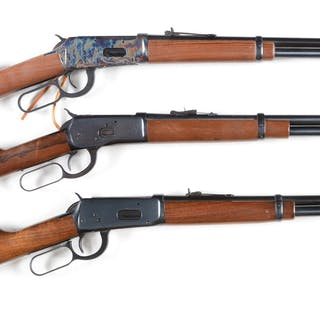 Lot consists of: (A) Winchester Model 94 angle eject...