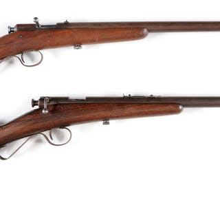 Lot consists of: (A) Winchester Model 1902 bolt action single shot youth rifle