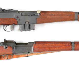 Lot consists of two French military semi-automatic and bolt action rifles