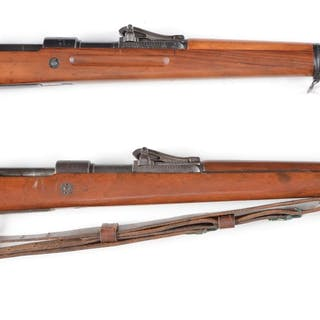 Lot consists of two WWI era G98 bolt action rifles