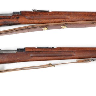 Lot consists of two Model 1896 Carl Gustaf bolt action rifles