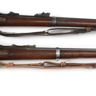 Lot consists of (A) Springfield Model 1873 Trapdoor rifle...