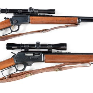 Lot consists of: (A) Marlin Model 39M rifle with round barrel