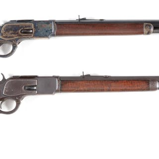 (A) Winchester Model 1873 rifle made in 1886