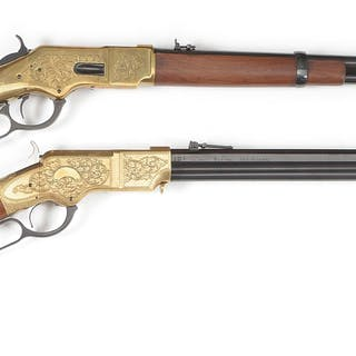 Lot consists of: (A) Uberti reproduction Model 1866...