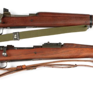 Lot consists of (A) Outstanding Remington 1903A3 rifle...