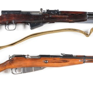 Lot consists of two Russian semi-automatic and bolt action rifles