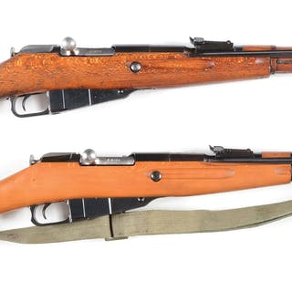 Lot consists of two Polish M44 bolt action carbines