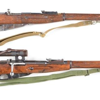 Lot consists of two Model 91/30 Russian Mosin Nagant rifles