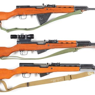 Lot consists of three SKS semi-automatic rifles