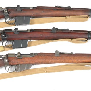 Lot consists of three British military bolt action carbine and rifles
