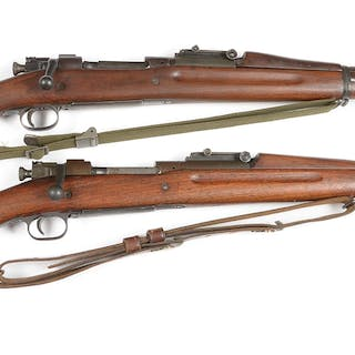 Lot consists of (A) Springfield Model 1903 bolt action...