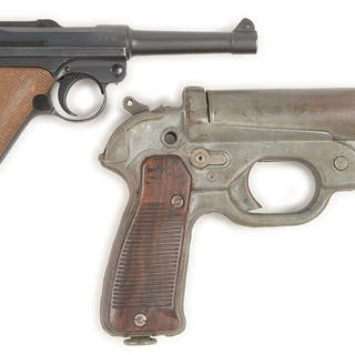 Lot consists of a German Luger and a German LP-42 flare signal pistol