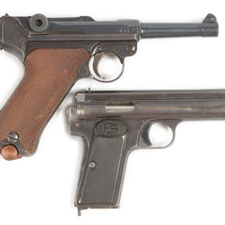 Lot consists of a DWM Luger and a Frommer Stop
