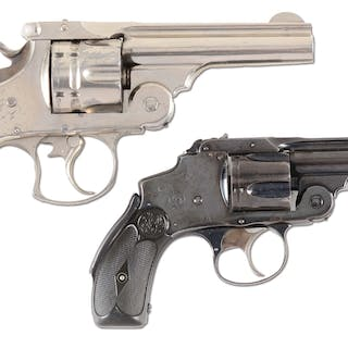 (A) Smith & Wesson Number 3 Navy double action .44...