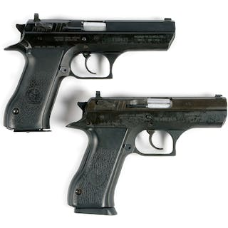 Lot consists of (A) High rise three dot white combat sights