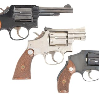 Lot consists of: (A) Model 12-3 .38 M&P Airweight Revolver