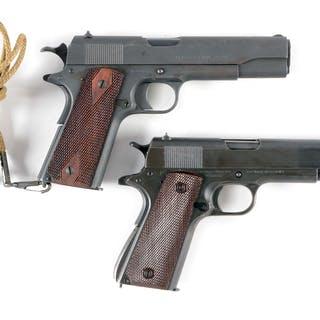 Lot consists of two Colt US Army pistols