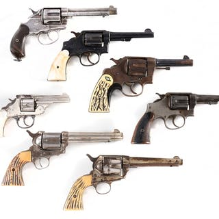 Lot consists of various revolvers including a Colt New...