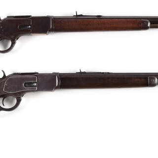 Lot consists of: (A) Winchester 1873 3rd Model rifle manufactured 1900