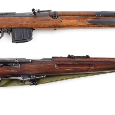 (A) CZ Model 52 rifle chambered for the proprietary 7.62x45 cartridge
