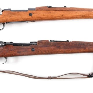 Lot consists of two Yugoslavian Mauser bolt action rifles
