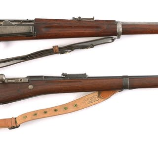 Lot consists of (A) Antique Springfield 1896 Krag rifle