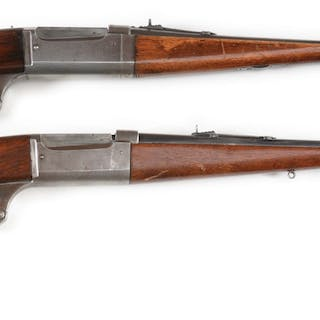 Lot consists of (A) Savage Model 99F lever action...
