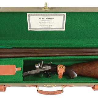 Incredibly rare Nichols and Lefever high grade gun with...