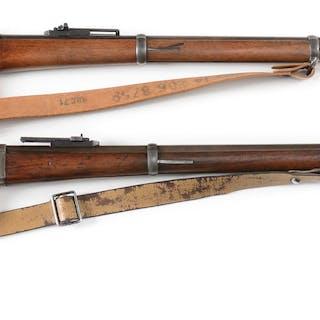 Lot consists of two Danish Rolling Block M1867 rifles