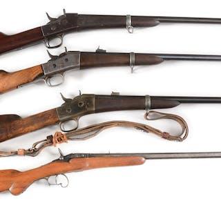 Lot consists of: (A) Remington Model 1871 rolling block carbine