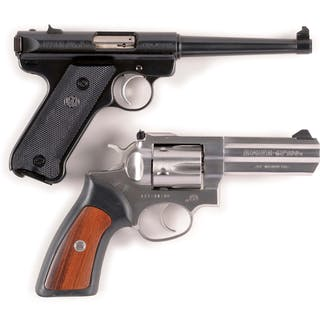 Lot consists of (A) Ruger Mark II Semi-Automatic Pistol