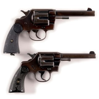 Lot consists of: (A) Colt New Service in .38-40