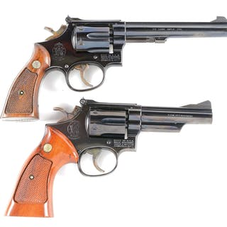 Lot consists of: (A) K frame Model 17-2 Masterpiece revolver with pinned barrel
