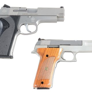 Lot consists of: (A) Smith & Wesson semi-automatic Model...