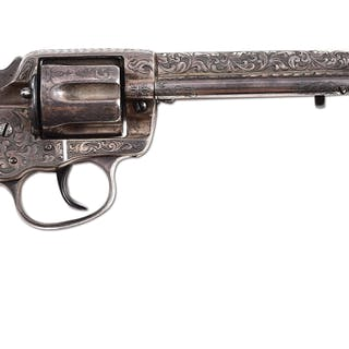 First year production Model 1878 revolver with contemporary engraving