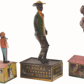 Lot consists of a Strauss Alabama roof dancer and two...