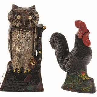 Lot consists of: Kyser & Rex rooster with repaint to head and J