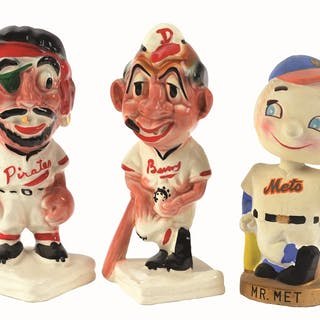 This lot includes three of the most iconic baseball mascots of all time
